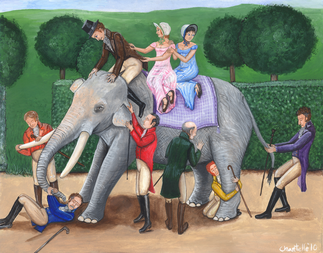 the blind men and the elephant - HD1280×1001
