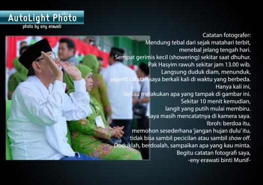 catatan fotografer enyerawati doa pak Hasyim