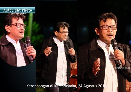 catatan fotografer enyerawati Keroncongan di Kafe Pustaka 24082016 Prof Djoko Saryono